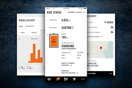 H-D App connection with Livewire motorcycle