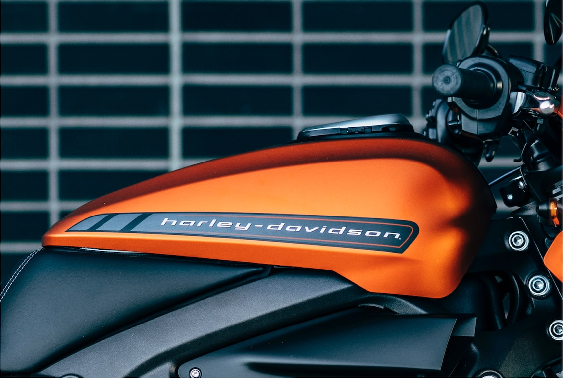 H-D Livewire electric motorcycle tank