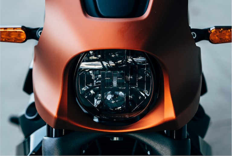 H-D Livewire electric motorcycle headlight