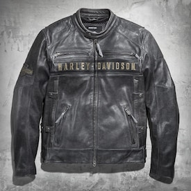 Men's Passing Link Triple Vent Leather Jacket image