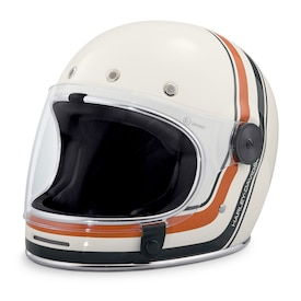 Vintage Stripe Full-Face Helmet