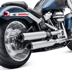 Screamin' Eagle<sup>®</sup> Street Cannon Mufflers - Chrome