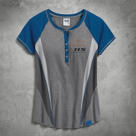 Mesh Inset Henley image