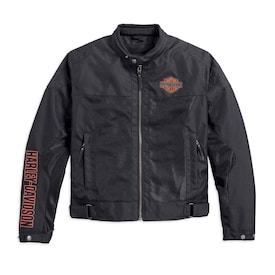 Bar & Shield Logo Mesh Riding Jacket