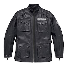 Messenger 3/4 Leather Jacket