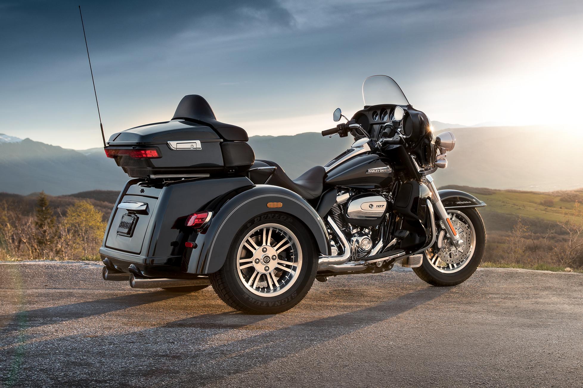 tri harley davidson motorcycles – idee per l'immagine del motociclo