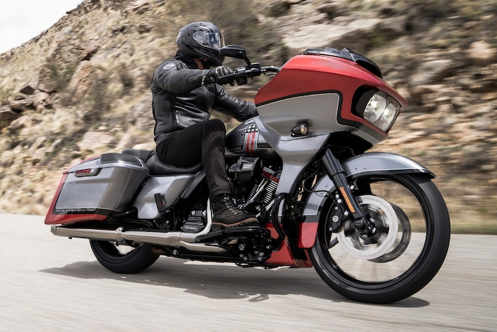 Man Riding 2019 Harley-Davidson Motorcycle