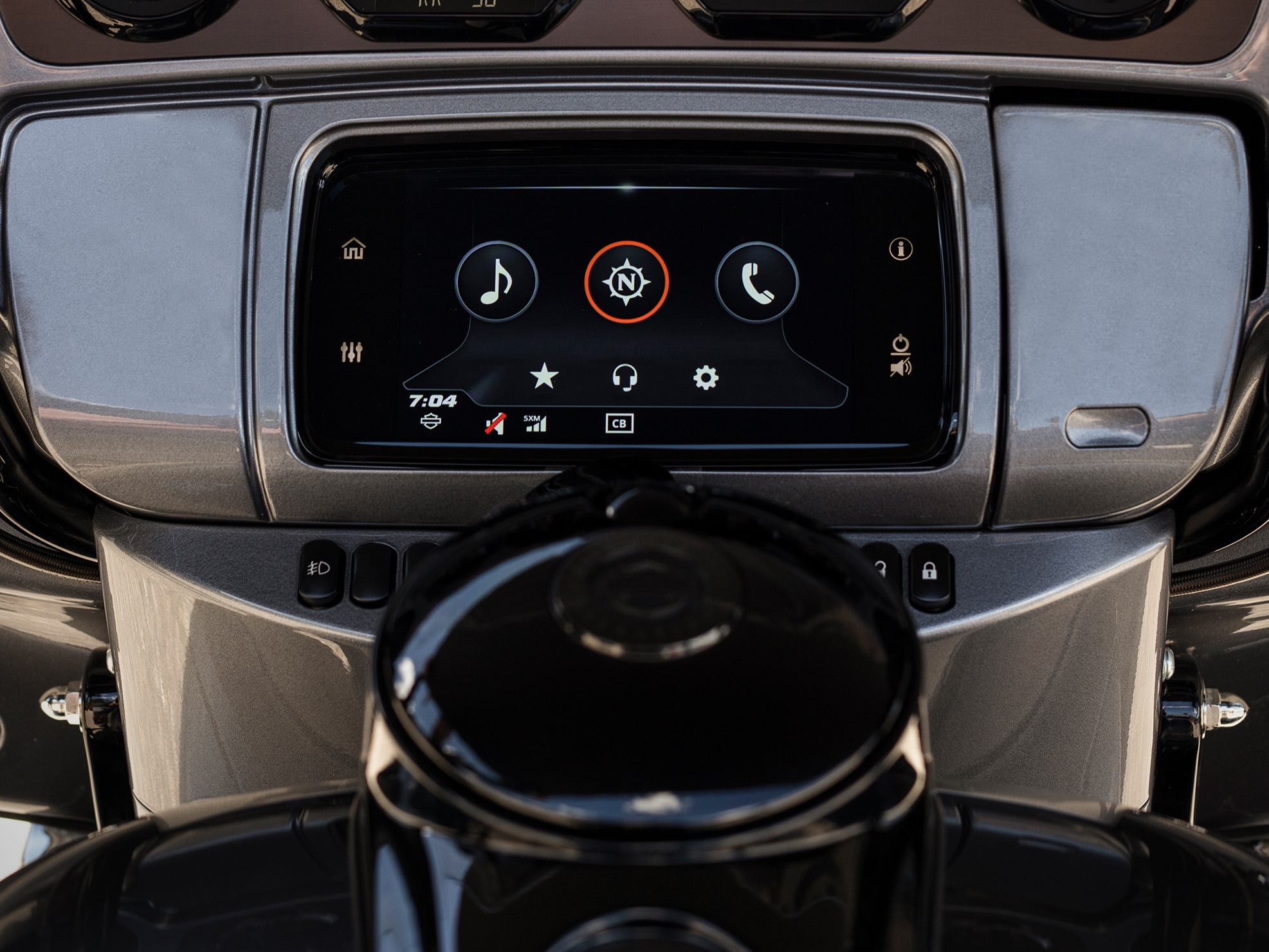 Infotainment System On a 2019 CVO H-D Motorcycle