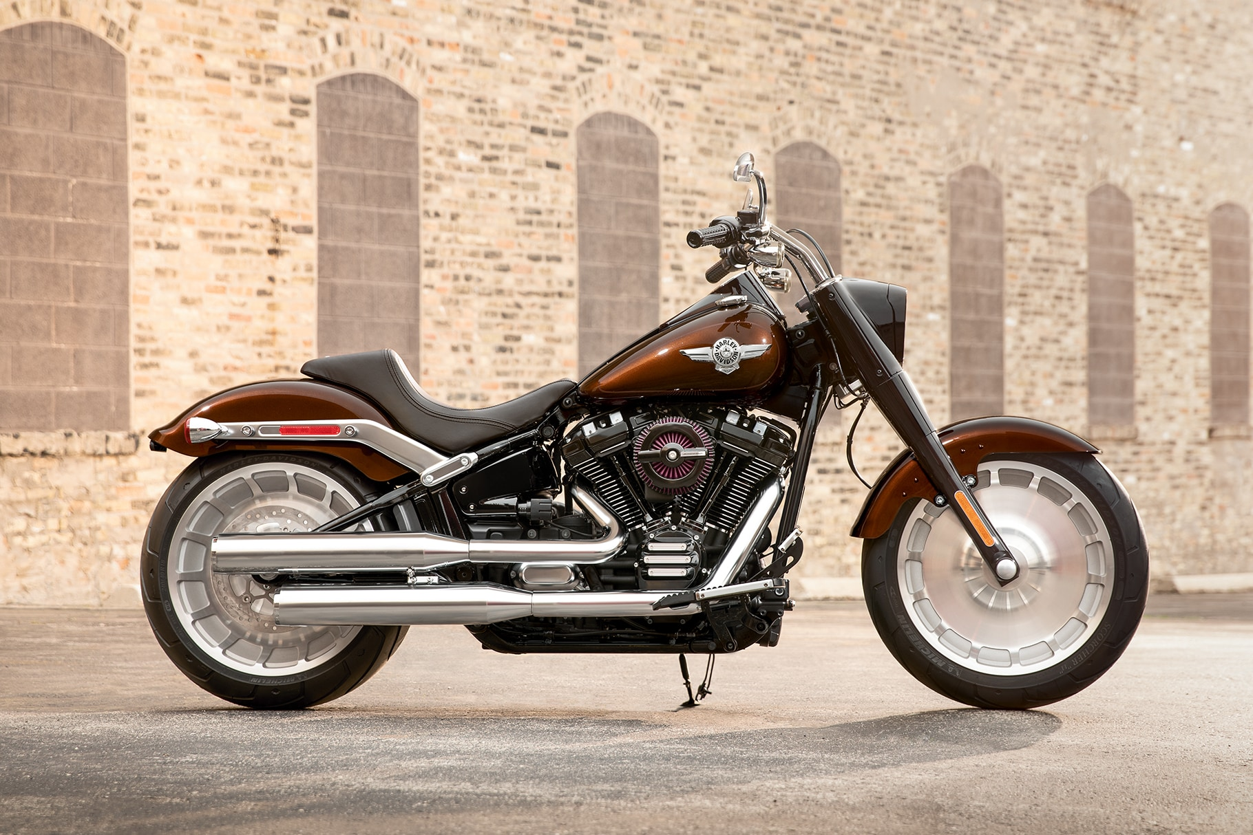 2019 Softail H-D Motorcycle Parked on a Street