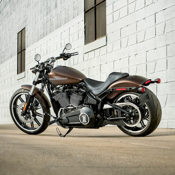 2019 H-D Softail motorcycle Parked in Front of a building