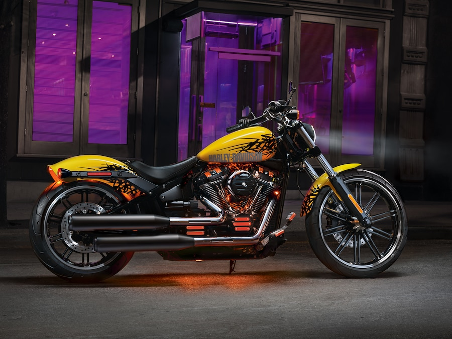 2019 H-D Softail motorcycle Parked in front of building