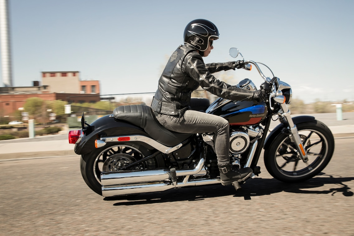 Man riding a 2019 Low Rider Motorcycle