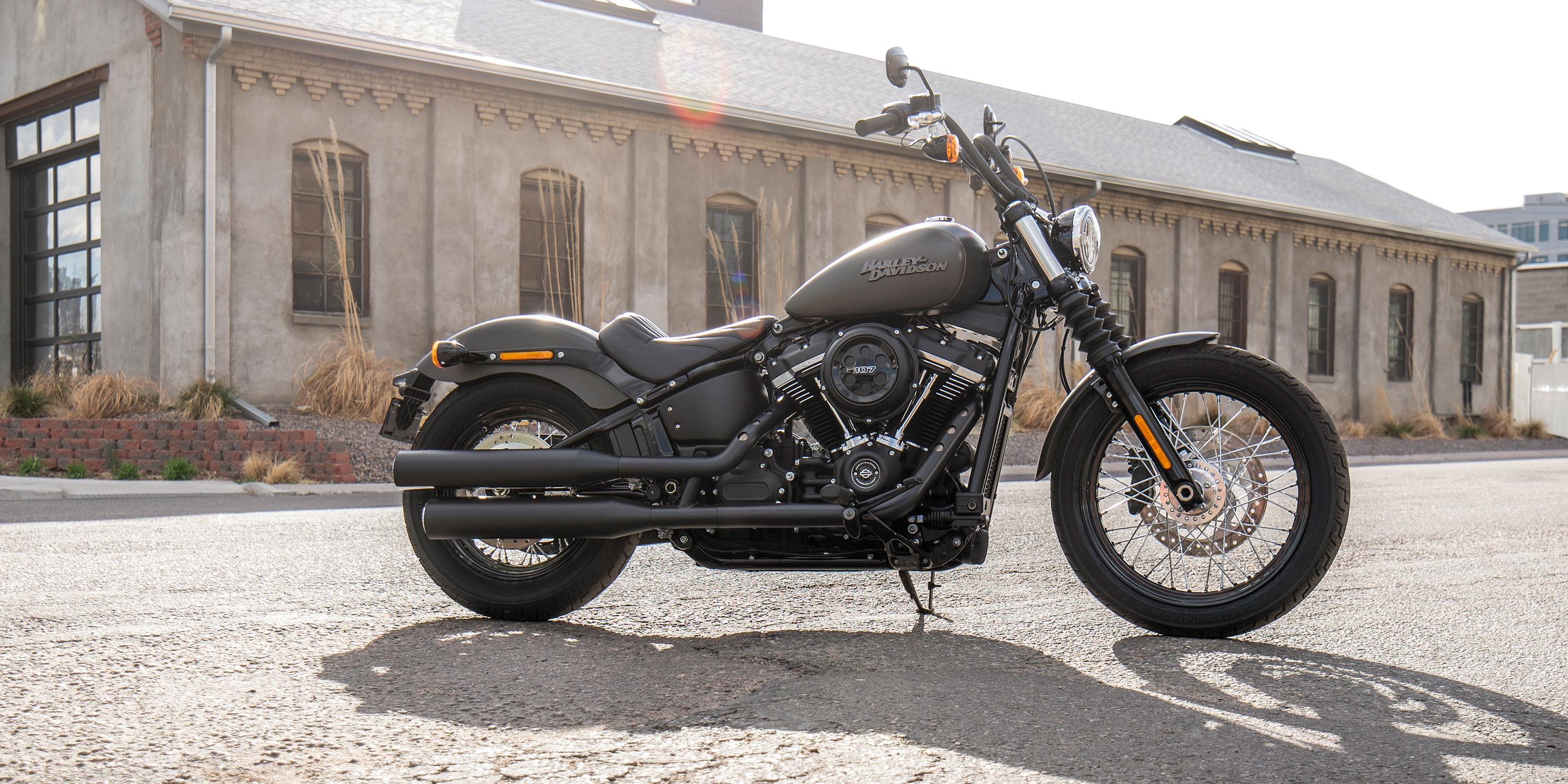 2019 Street Bob motorcycle Parked on the street