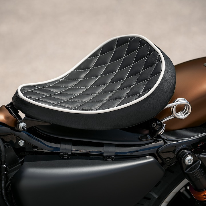 Seat of 2019 H-D Sportster motorcycle