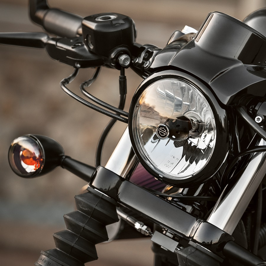 Headlight on a 2019 H-D Forty-Eight Special motorcycle