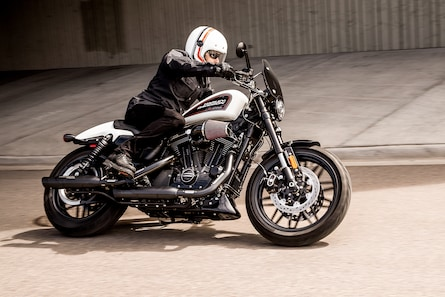 Man Riding 2019 H-D Sportster Motorcycle