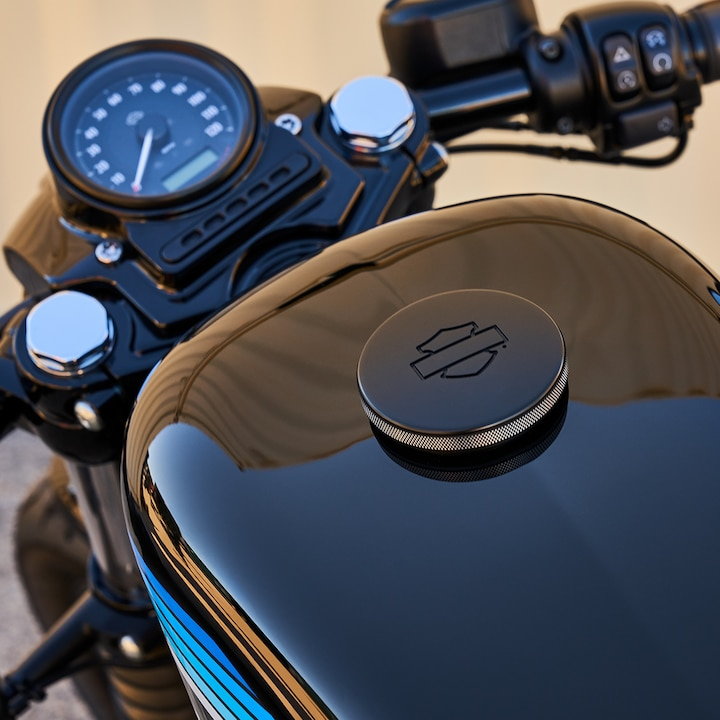 Black Harley-Davidson 2019 Iron 1200 custom motorcycle gas tank