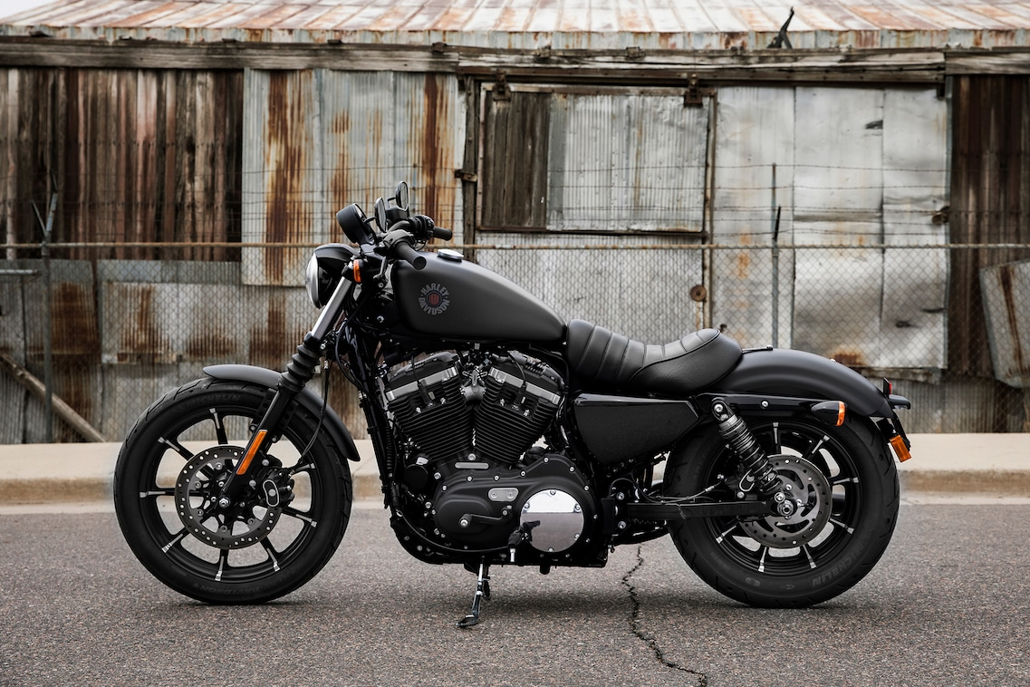 2019 Iron 883 motorcycle parked on the street