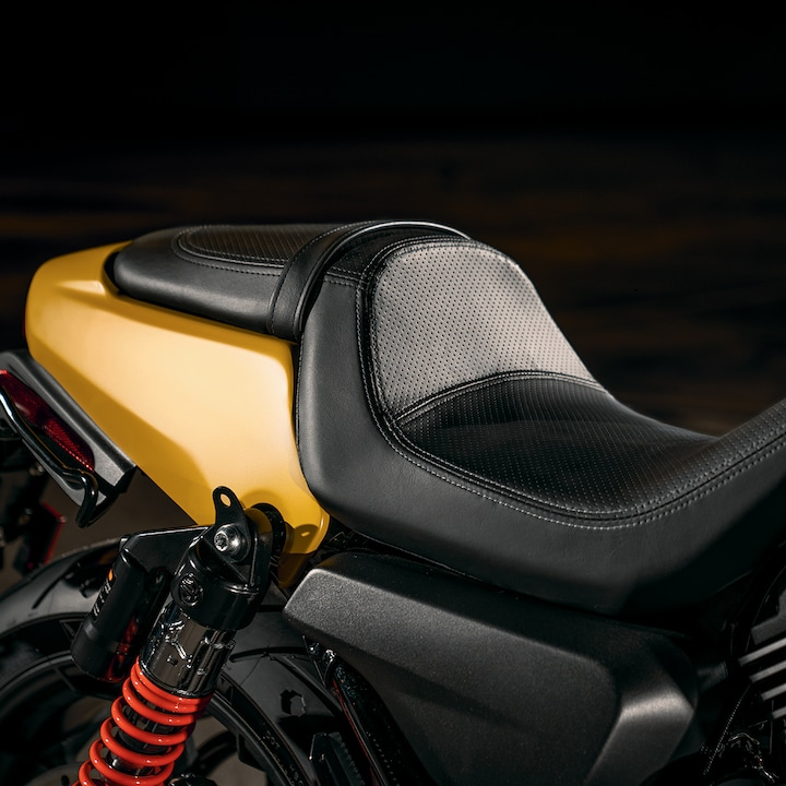Seat on a 2019 H-D Street motorcycle