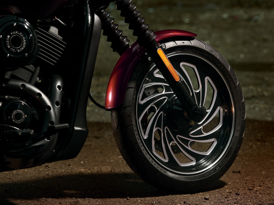 Front Wheel on a 2019 Street 500 Motorcycle