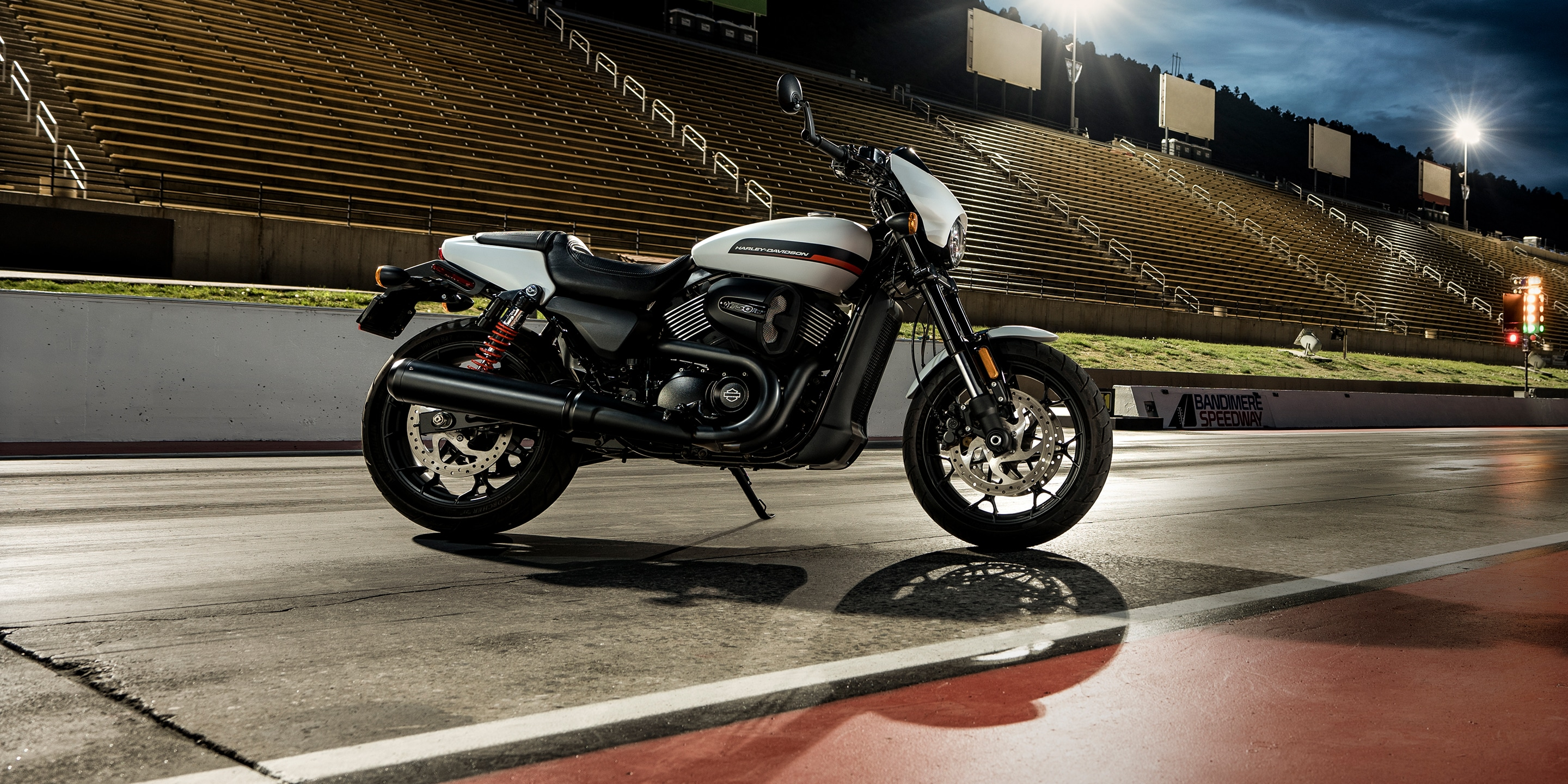 2019 Street Rod Motorcycle parked on race track