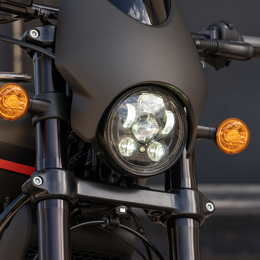 2019 Harley-Davidson Black Street Rod Motorcycle Headlight