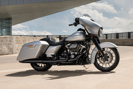 2019 Touring H-D Motorcycle Parked On The Road