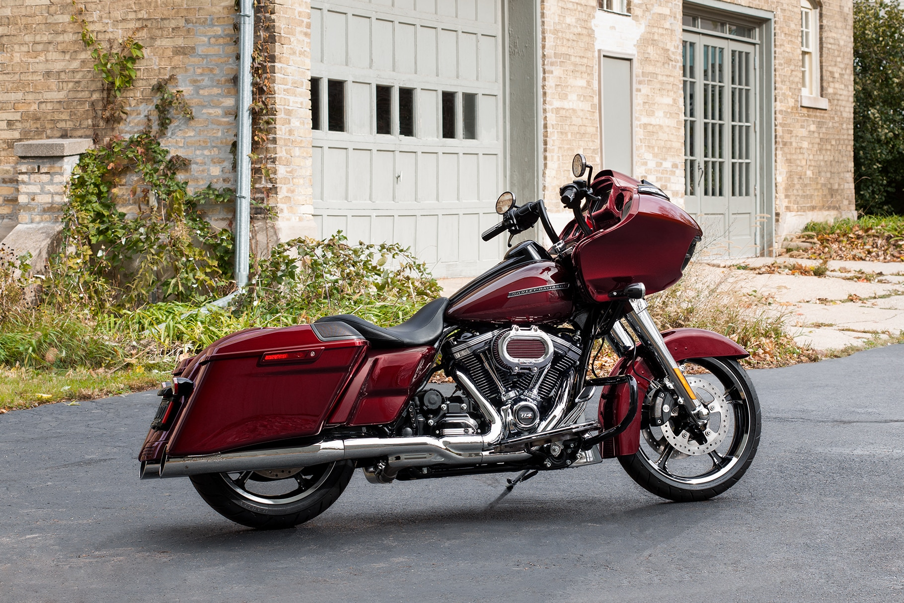 Parked 2019 H-D Road Glide Red motorcycle
