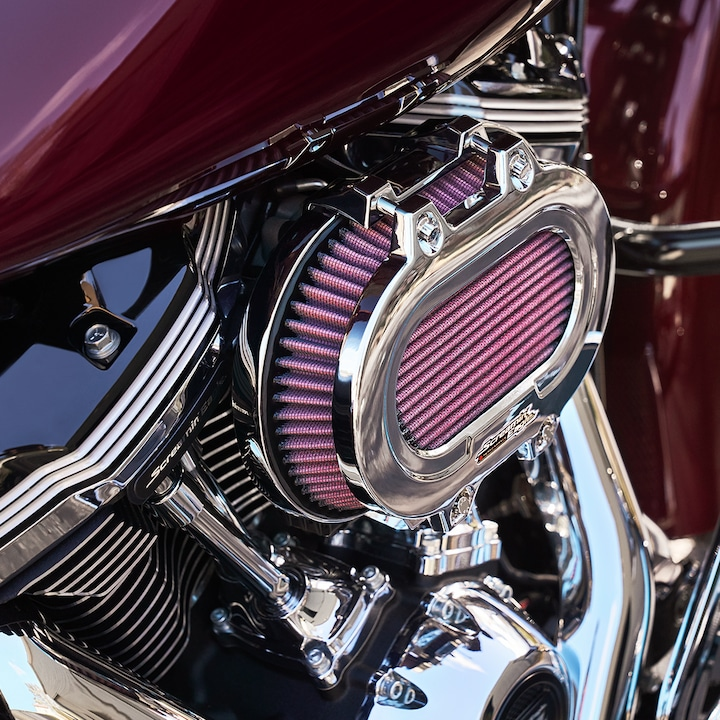 Red 2019 Road Glide motorcycle air filter