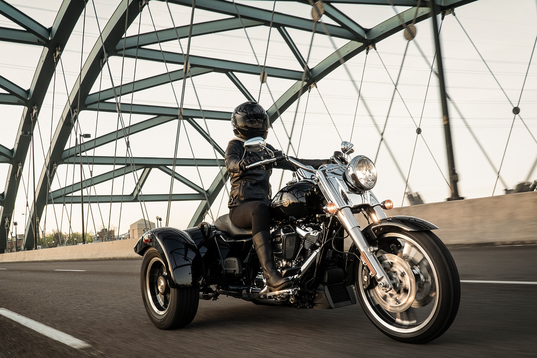 Woman Riding 2019 Freewheeler H-D Motorcycle