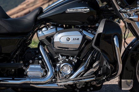 Milwaukee-Eight 114 Engine On 2019 Freewheeler H-D Motorcycle