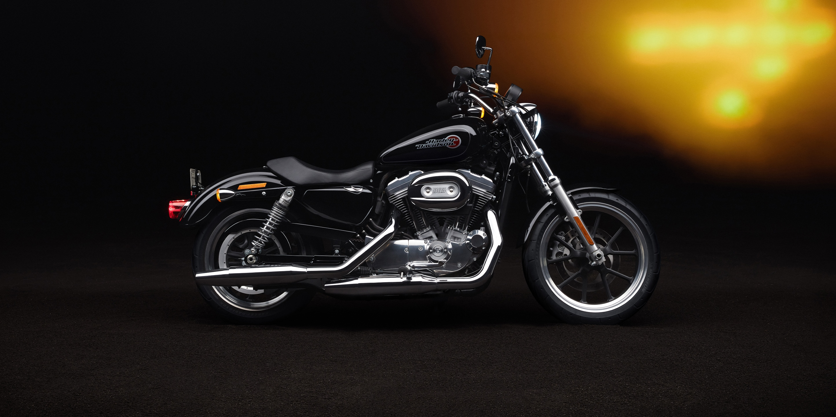 Parked Harley-Davidson 2020 Superlow motorcycle