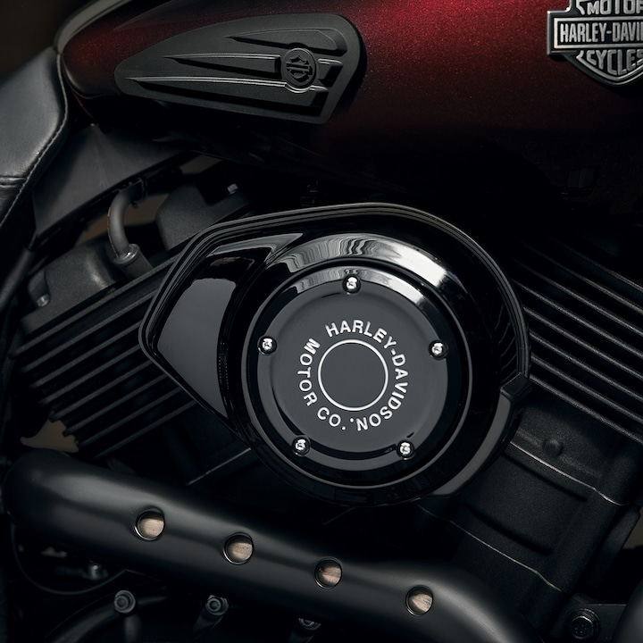 Engine on 2020 H-D Street 500 motorcycle