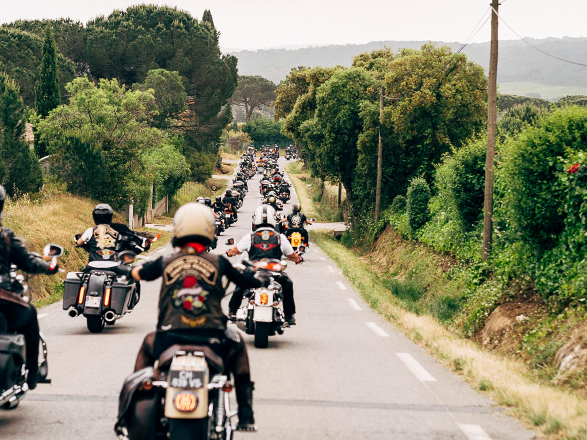 Men Participating in a Harley-Davidson Rally