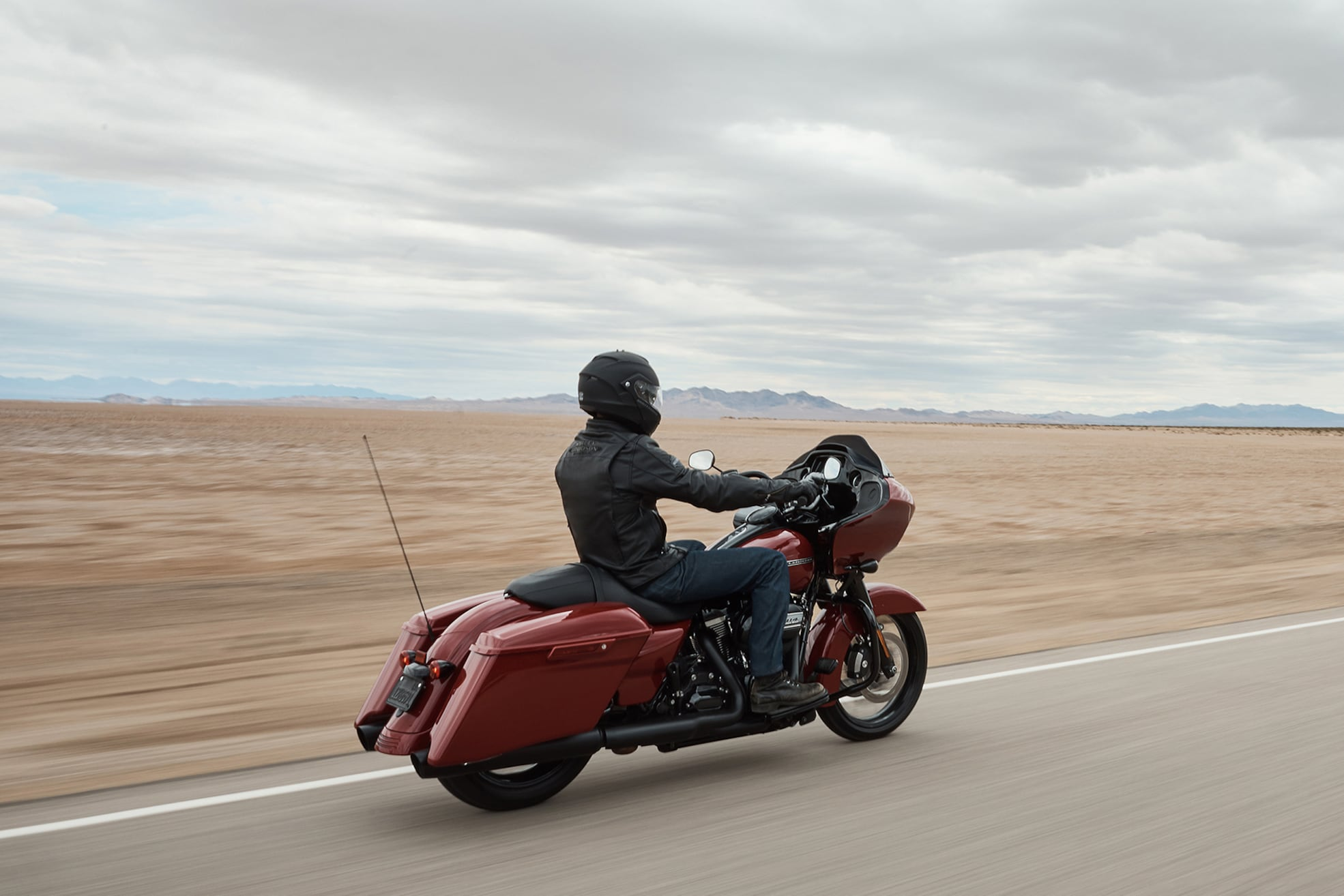 Person riding 2020 Road Glide Special motorcycle