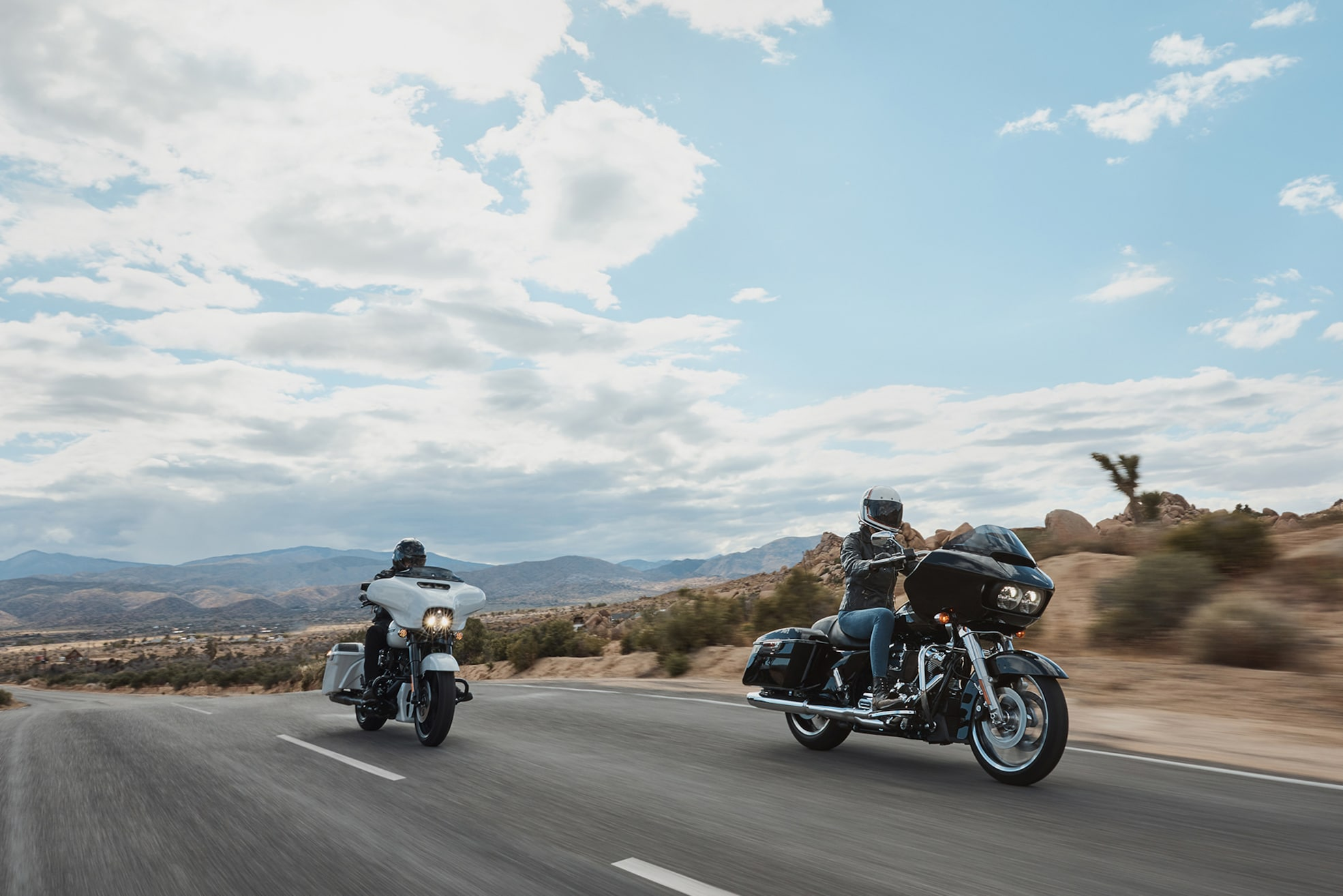 Person riding Harley-Davidson 2020 Road Glide motorcycle