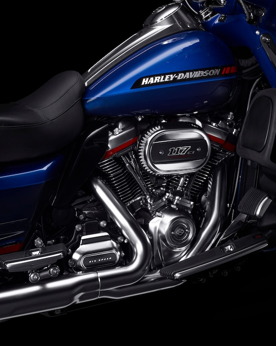 Close Up of CVO Limited motorcycle
