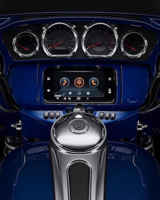 Boom Box GTS Infortainment System on a CVO Limited motorcycle