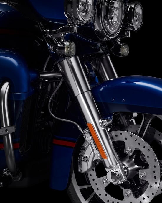 Shocks on a CVO Limited motorcycle