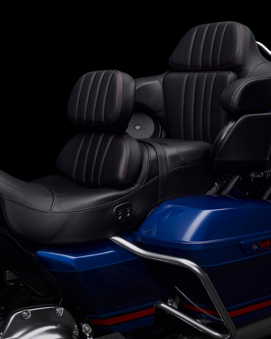 Seats on a CVO Limited motorcycle