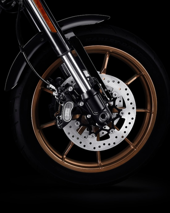 Wheels of a 2020 Low Rider S Motorcycle