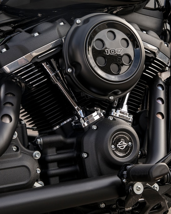 Engine on a 2020 Street Bob motorcycle