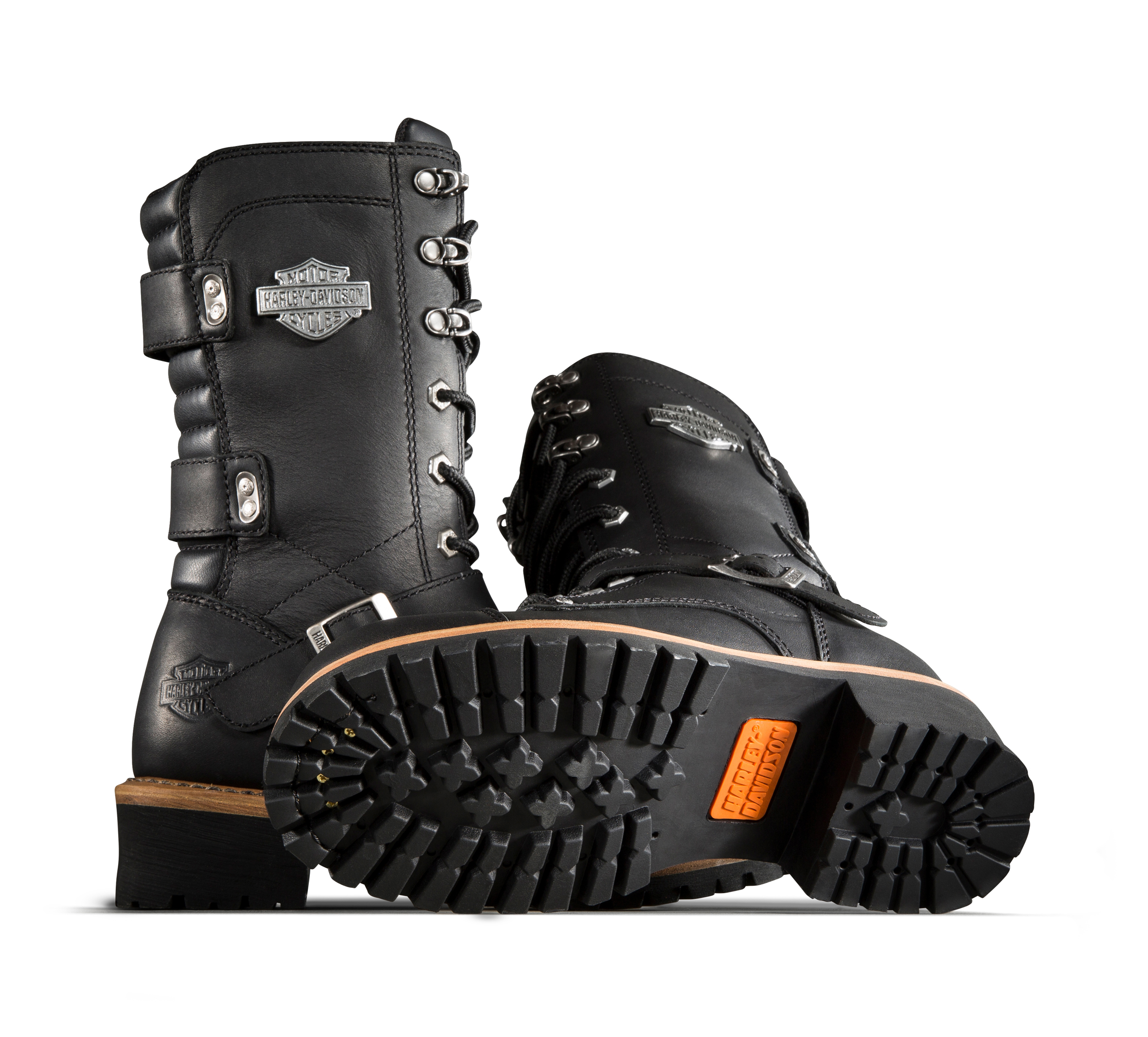 Harley-Davidson Womens Performance Albara BLK Leather Motorcycle Boots D87066