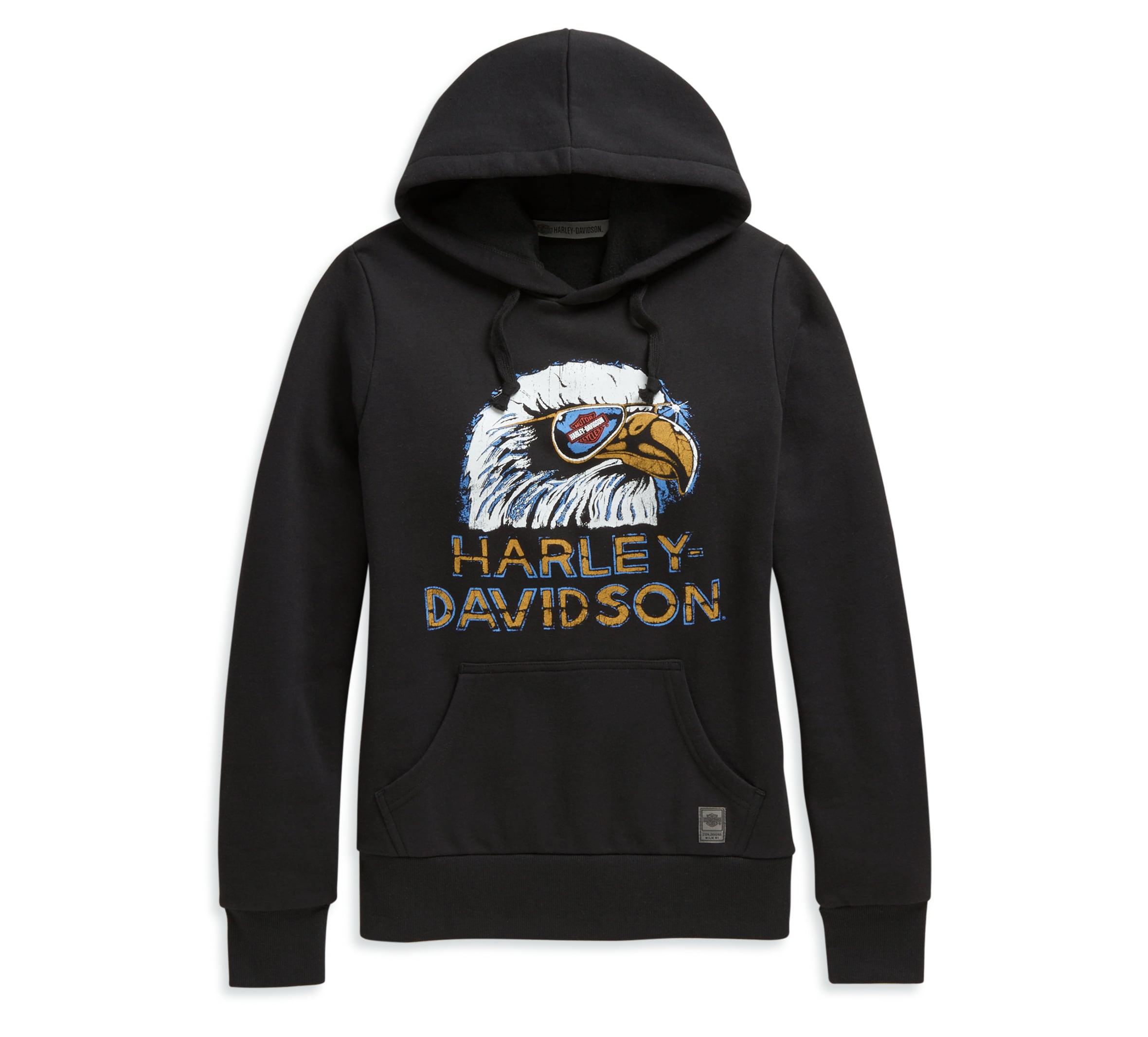 Harley-Davidson Military Mens Graphic Pullover Hooded Sweatshirt Epic Military Collage