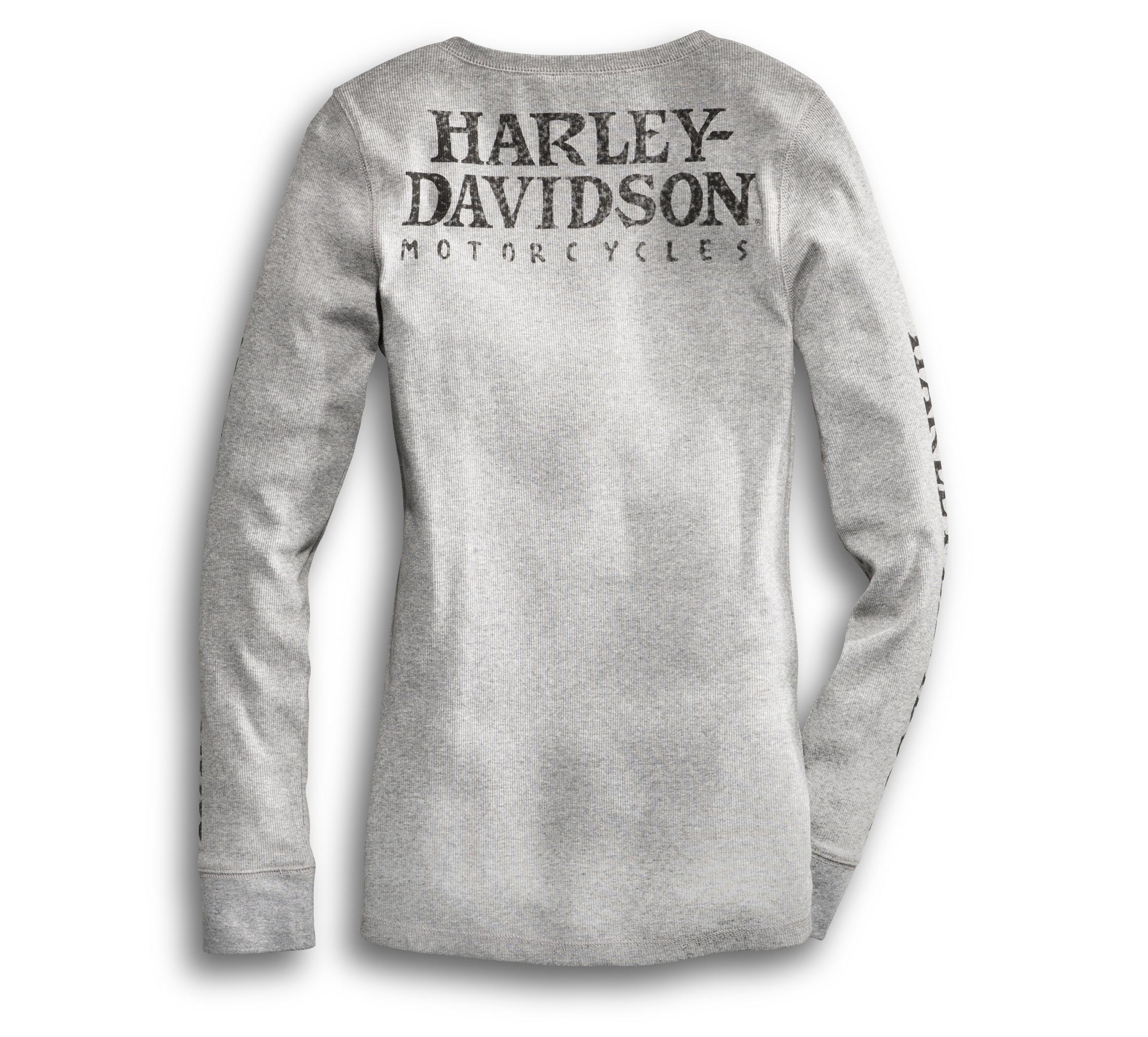 Harley-Davidson Mens Black Hills Skull Top Grey T-Shirt