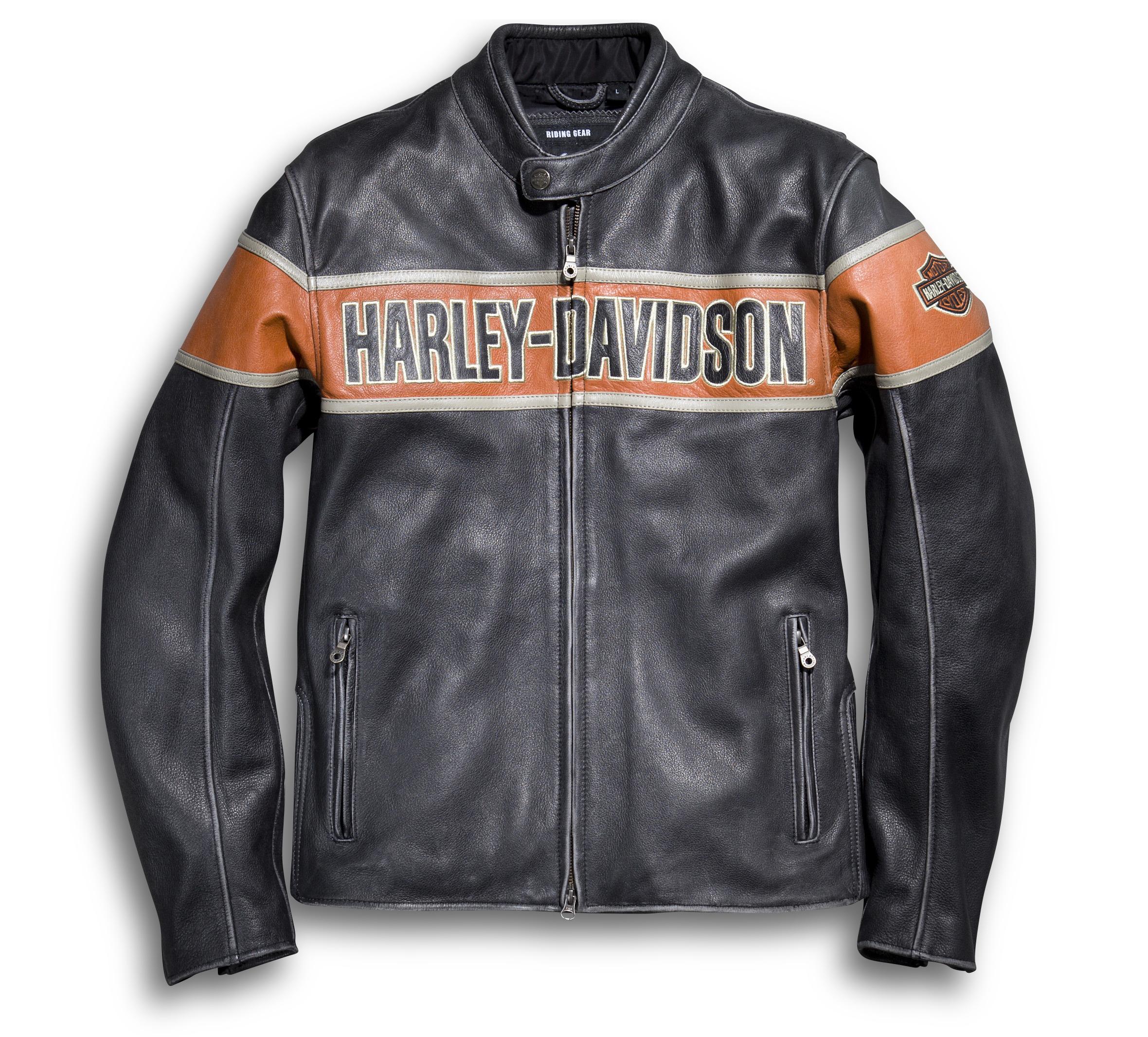 Men S Victory Lane Leather Jacket 98057 13vm Harley Davidson Usa