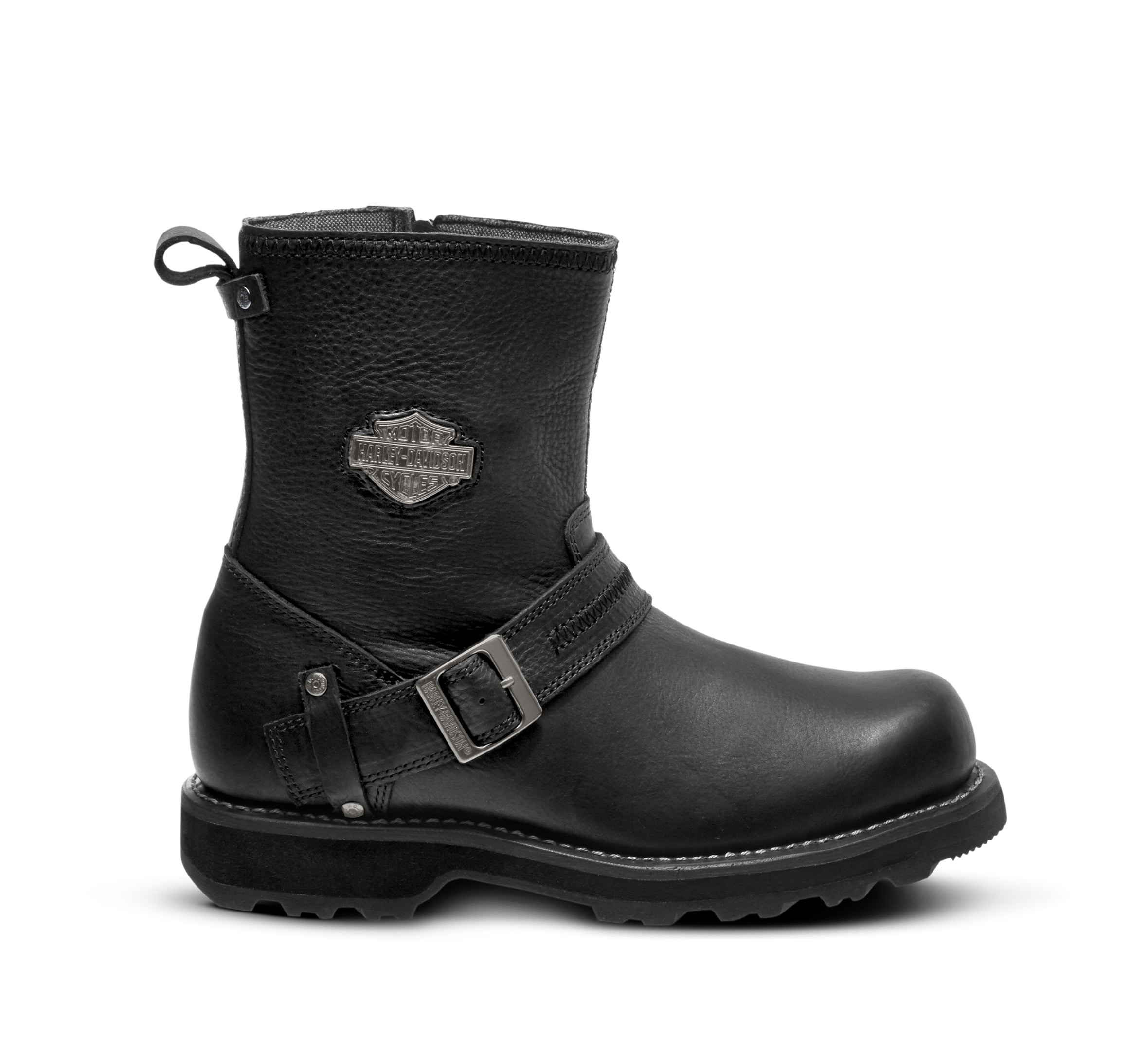 Mens Harley Davidson RR-Richton Leather Biker Riding Zip-Up Boots Sizes 6 to 12