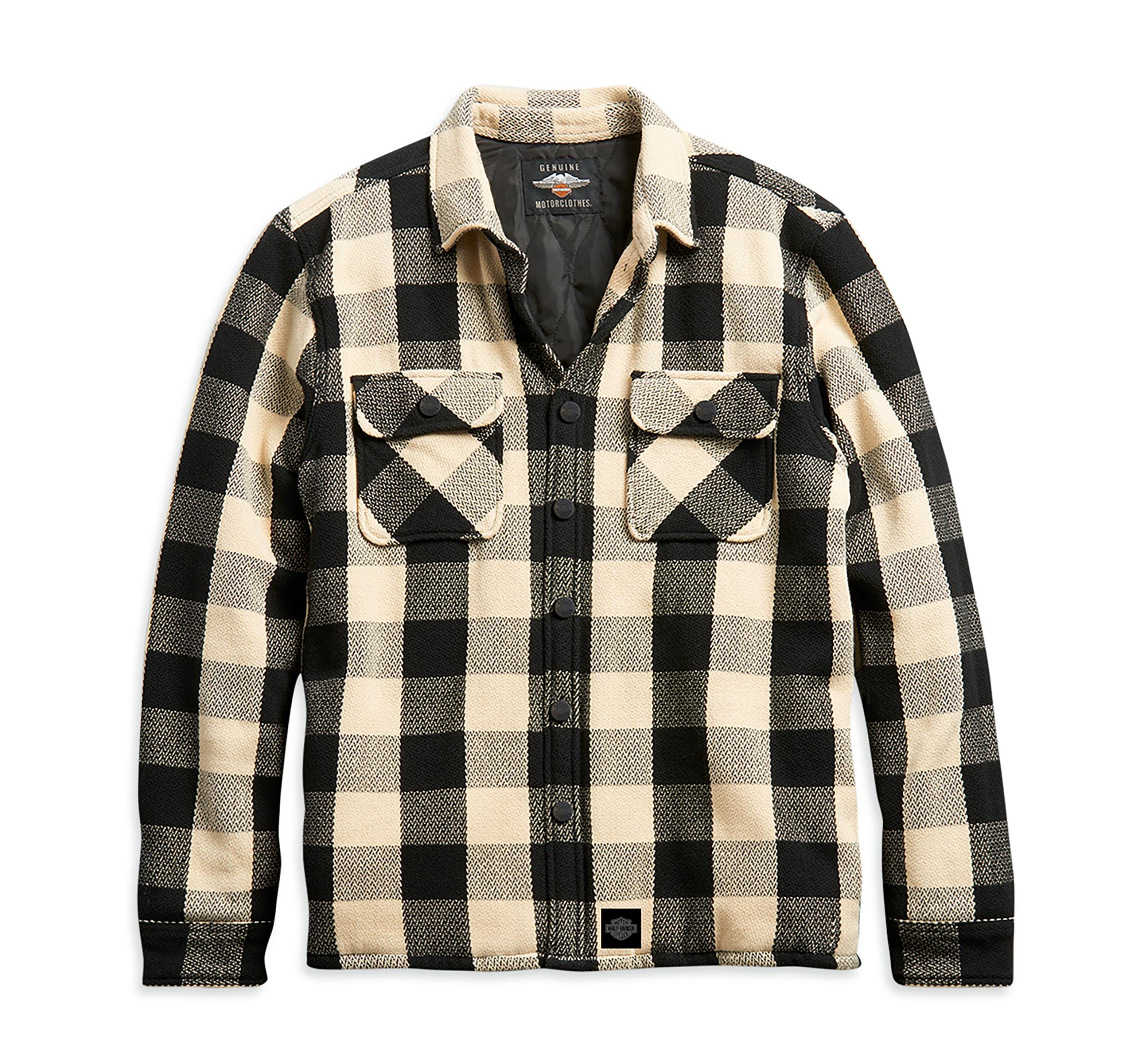 Harley Davidson Shirt-Woven Herren TAN PLAID Karohemd robust 96272-21VH
