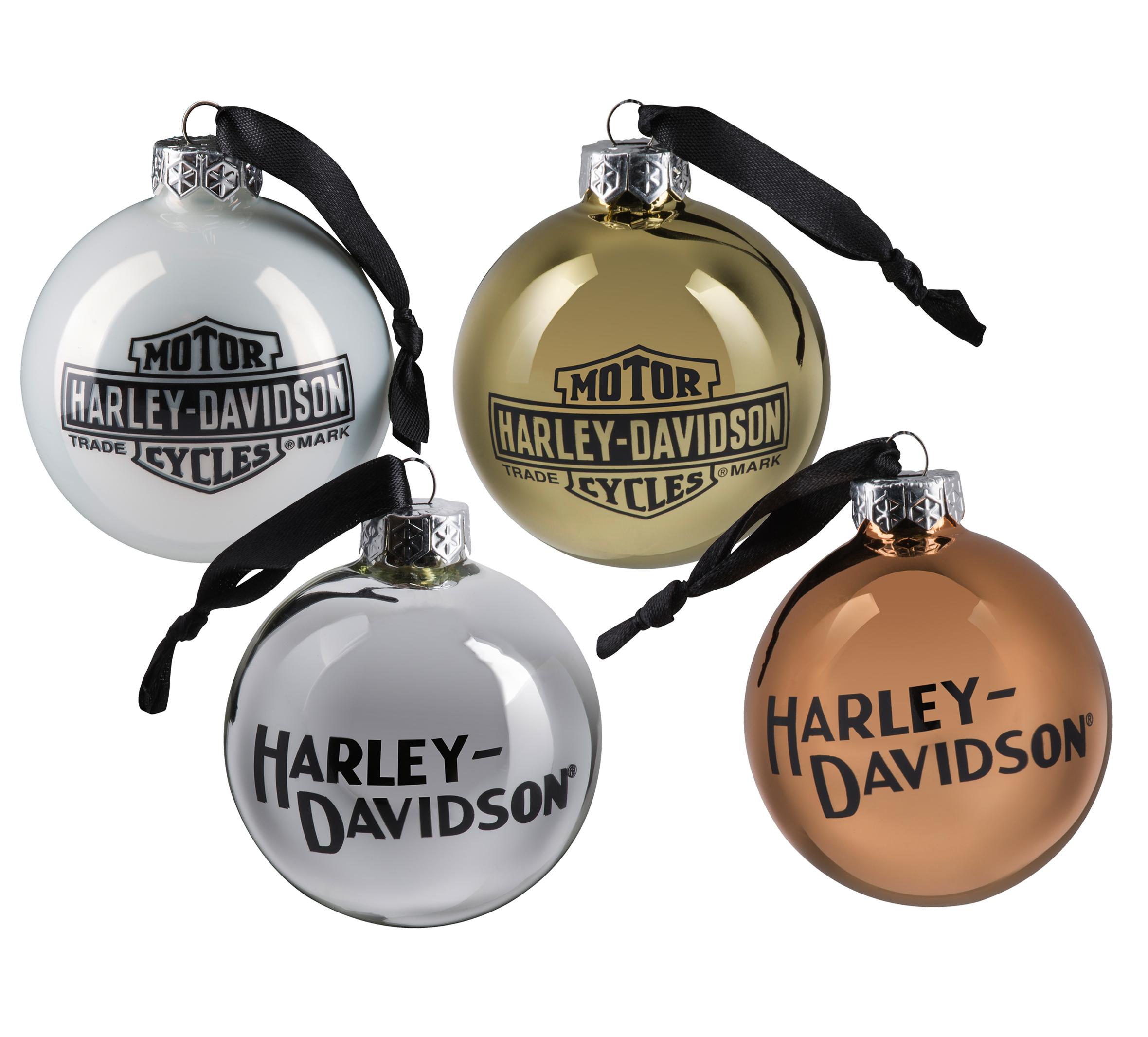 Trademark Logo Ball Ornament Set 98786 21vx Harley Davidson Usa