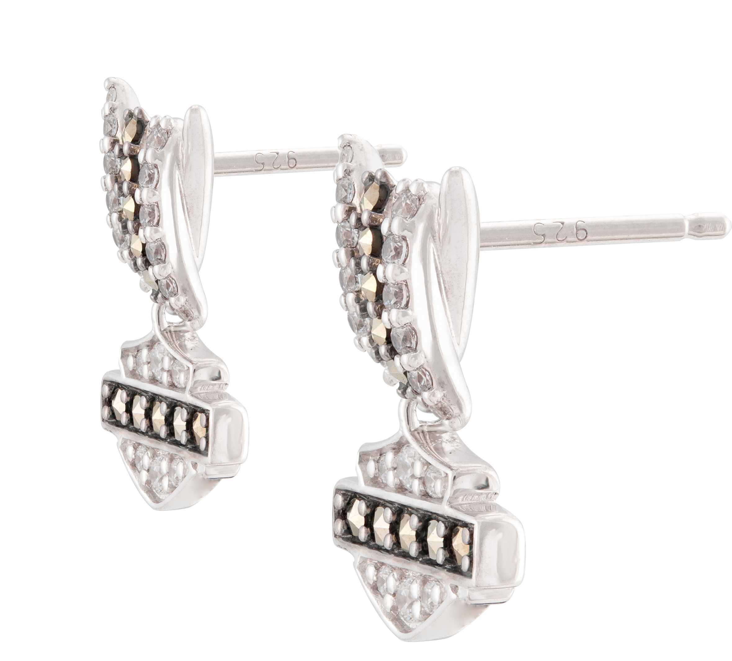 Harley  Checkered Mix Tassel Earrings